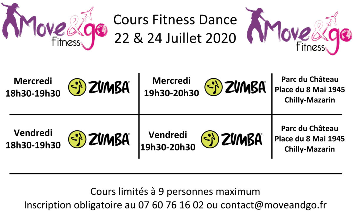 Planning reprise cours Fitness Dance 08-120620