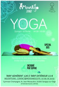 Flyer Stage Yoga Spécial Dos