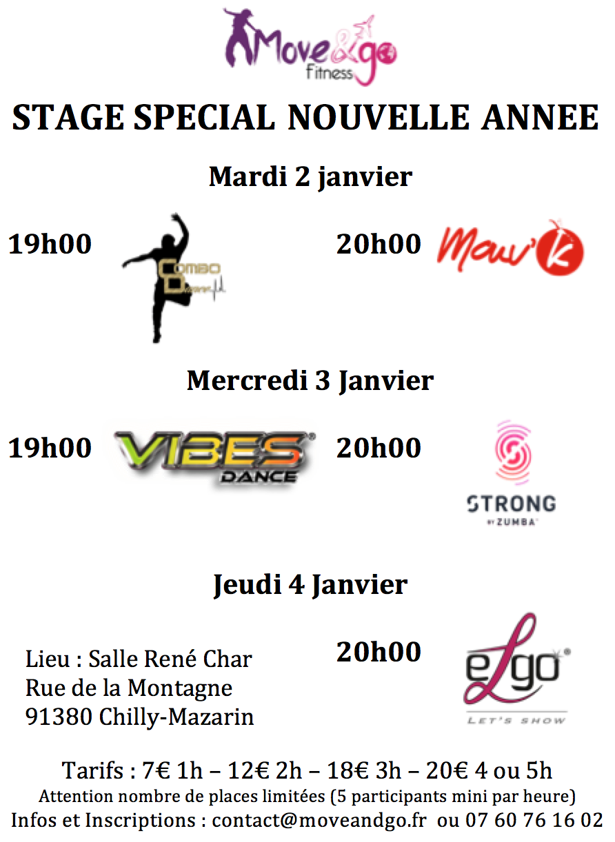 STAGE SPECIAL NOUVELLE ANNEE