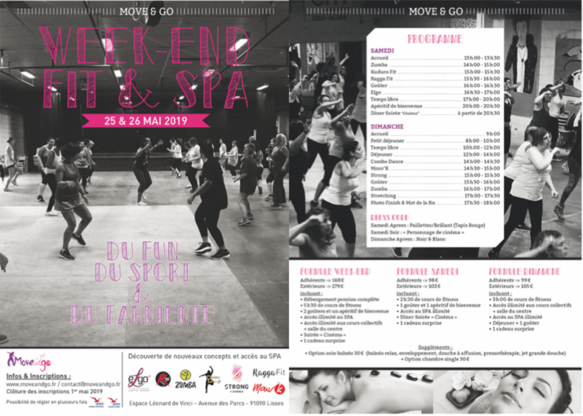 Flyer Week-end Fit & Spa 25&26mai19